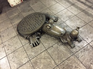 "Tom Otterness ""Life Underground"" Bronzes - 14th St & 8th Ave Subway Station"