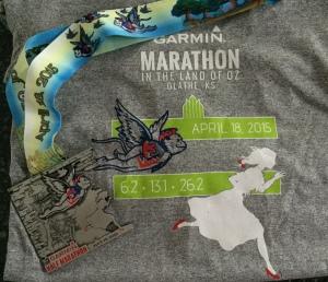The Half Marathon medal and shirt