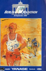 1990 Berlin Marathon Program