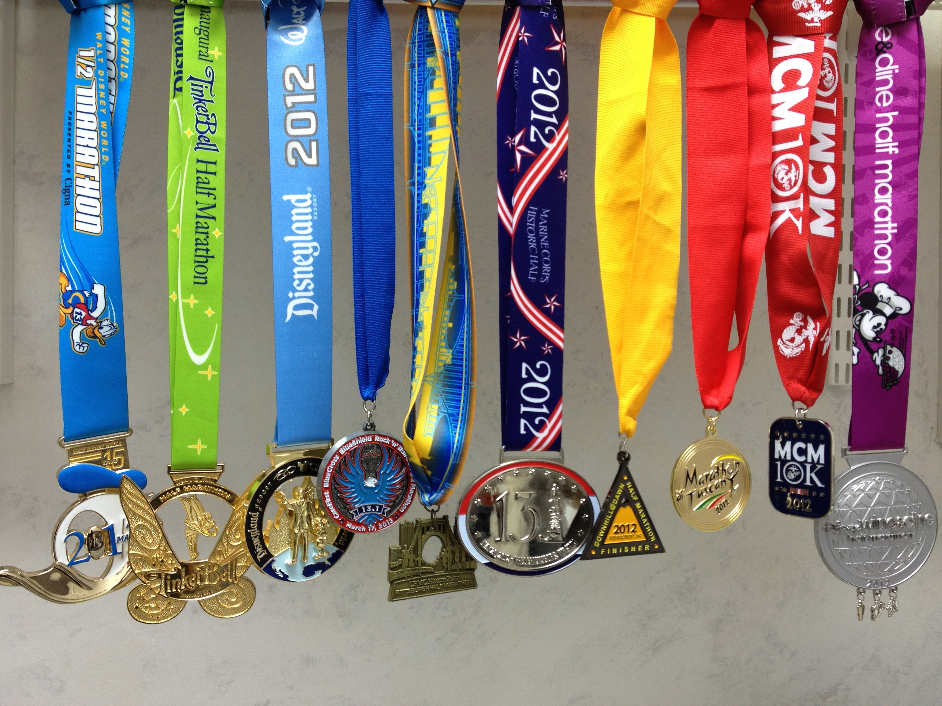 Kondo'ing My Race Medals | Adventures of a Funatical Runner
