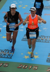 Crossing the finish line with Allison
