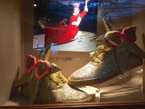 Shoes worn by Miss California 1995 in the Miss America Parade
