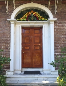Front Door of the Nathaniel Russell House, Charleston, SC