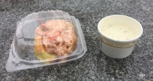 Lobster roll and clam chowder - Yum!