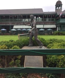 Fred Perry statue at the International Tennis Hall of Fame