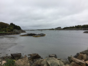 A quiet little bay along the course