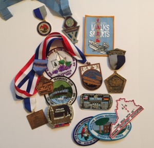 A few of my Volksmarch medals