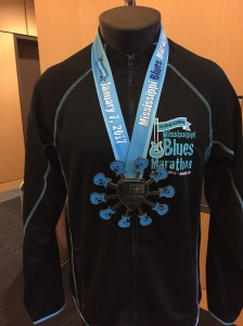 The marathon medal (the medal for the half wasn't much smaller)